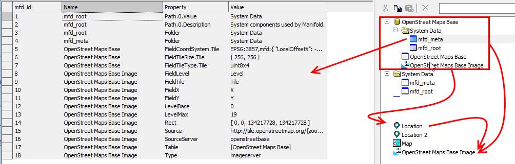 convert osm server to georeference raster usgin location
